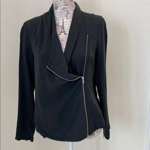Trouve Silk Jacket Zipper front S